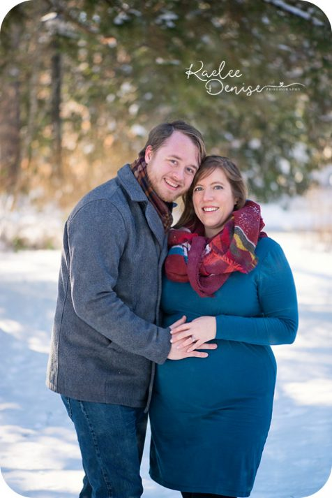 snow maternity portrait